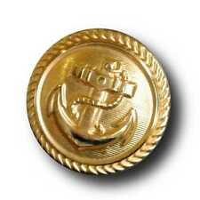 6 authentische leichte goldfb. Marine Uniform Knöpfe aus Metallblech (0150go)