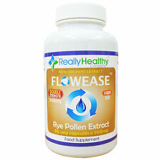 Flowease Rye Pollen Extract - 90 - 500mg Vcaps - for Healthy Urine Flow