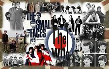"Mods Band Collage Canvas Print  A1 30"" x 20"""
