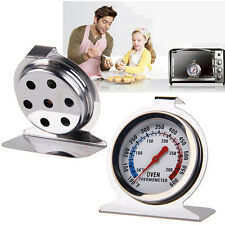 Stainless Steel Oven Cooker Dial Thermometer Temperature Gauge 300ºC BBQ Grill