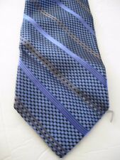 Pavone Men's Neckties Tie Blue Striped Dots Black Brown Silk