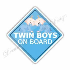 Baby on Board Twins Full Color Adhesive Vinyl Sticker Window Car Bumper 29