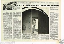 Coupure de presse Clipping 1975 (2 pages) TV relance l'affaire Richard Nixon