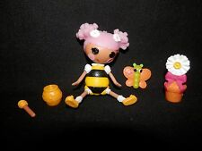 "BLOSSOM FLOWERPOT ""Blossom's a Busy Bee"" Mini LALALOOPSY Doll w / Pet COMPLETE"