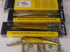 "3 FISHING SALTWATER TROLLING lure lot 9"" GOLD STRIPER GROUPER BIG GAME OFF"