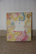 POTTERY BARN KIDS SEAHORSE Yellow TWIN Duvet Cover NWT Sold Out! 2013