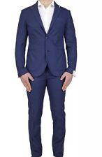 LBM 1911 LUBIAM MEN'S Dandy Ltd Edition Mid Blue Slim Fit Cotone Tuta Eu 52 NUOVI