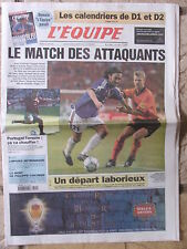 L'Equipe du 24/6/2000 - Foot : Euro 2000 Avant France-Espagne - Ph Chatrier