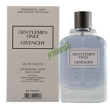 GENTLEMEN ONLY BY GIVENCY TSTER 3.3 / 3.4 OZ EDT SPRAY FOR MEN NEW IN TSTER BOX