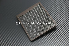 Real Carbon Fiber Brown Leather Wallet Bill Fold, Credit ID Card Picture Pockets