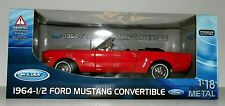 "1964 1/2 FORD MUSTANG CONV ""NEW"" MIB Welly 1:18th Scale Highly Detailed"