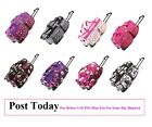 Hand Luggage Wheeled Holdall Cabin Travel Weekend Bag Suitcase Floral Hearts Zip
