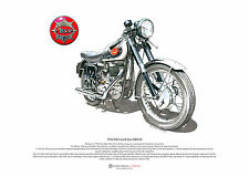 BSA gold star DBD34 art poster format a3