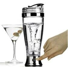 450ml Silver Portable Stainless steel electric mixer Blender Shaker Bottle A