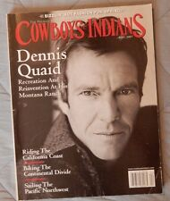 Cowboys & Indians Magazine Dennis Quaid at Montana Ranch Cowgirl U Alaska Cruise