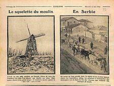 Fire Windmill Incendie Moulin à Vents Bataille d'Artois/Cows in Serbia WWI 1915