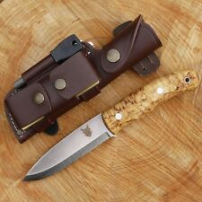 TBS BOAR BUSHCRAFT KNIFE - DC4 & Firesteel Edition - Carbon Steel & Curly Birch