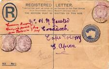 South Africa Boer War Registered Cover Army P O Naauwpoort CGH Postmarks
