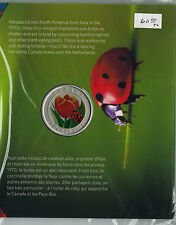 2011-COLOURFUL-TULIP--25 CENT COIN WITH LADYBUG