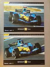 Renault F1 Team set of 2 Posters – Fernando Alonso and Giancarlo Fisichella