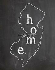 """NEW JERSEY HOME STATE PRIDE 2"""" x 3"""" Fridge MAGNET CHALKBOARD CHALK COUNTRY"""