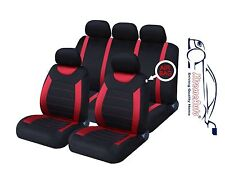 9 PCE Sports Carnaby Red/ Black Full Set of Seat Covers fo Dacia Logan, Sander