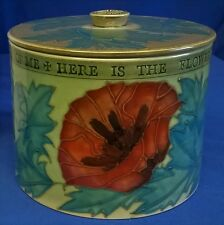 DENNIS CHINAWORKS GREEN POPPY LIDDED BOX - SALLY TUFFIN CHINA WORKS DESIGN