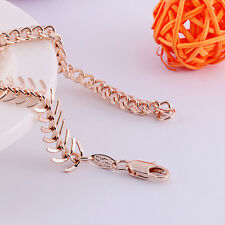 "8.27"" Rose Gold Filled Fashion Domineering Centipede Bracelet Mens Jewellry"