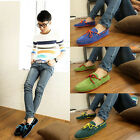 British Mens Suede Casual Lace Slip On Loafer Shoes Moccasins Driving Shoes HOT