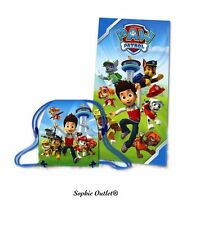 Official PAW PATROL Kids GYM BAG & BEACH TOWEL SET Swimming Sport Pool Bath Gift