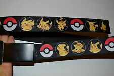 "Pokemon Buckle-Down Belt One Size Adult Fully Adjustable 1.5"" thick Nylon Belt"