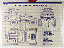 GI Joe 1984 Attack Vehicle VAMP Mark II Original Instructions