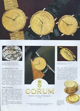 Corum Maitres Artisans d'Horlogerie  Watch 1995 Magazine Advert #4028