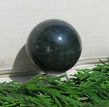 Green Moss Agate Solid Crystal Sphere - 40mm Diameter Complete with Stand