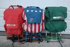Vintage World Famous lot External Frame Hiking Backpack-Camping Stars and Stripe