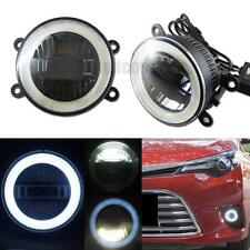 """3-in-1 High Power 3.5"""" LED Fog DRL Light with COB Halo Angel Eye Rings For Cars"""