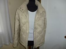 Next cream padded jacket / coat sz 10