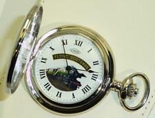 Chrome Plated Mechanical Special Ed. Flying Scotsman Half Hunter Pocket Watch