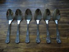 BRAND NEW Dessert Spoons King's Pattern x 6 stainless steel 182mm