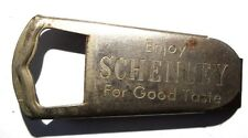 VINTAGE Metal Enjoy SCHENLEY For Good Taste ADVERTISING Beer / Bottle Opener