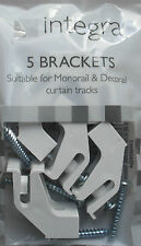 Decorail Monorail plastic curtain track or rail brackets Integra pack of 5