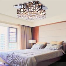 Modern 4 Light Crystal Chandelier Pendant Lamp Flush Mount Home Ceiling Lighting