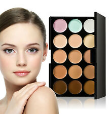 15 Color Pro Makeup Neutral Face Eyeshadow Camouflage Cosmetic Concealer Palette