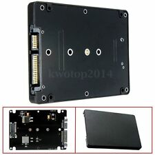 "M.2 NGFF (SATA) SSD to 2.5"" SATA Adapter Card 8mm Thickness Enclosure with Case"