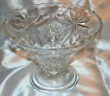 Large Bevel Cut Stars Crystal Glass Bowl Vase Fruit Punch Bowl Base