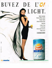 PUBLICITE ADVERTISING 054  1988  ORANGINA LIGHT   soda