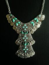 Necklace Moroccan Silver Ethnic Afghan Boho Gypsy Tribal Belly Dance Bohemian UK