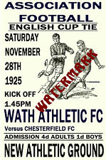 WATH ATHLETIC - VINTAGE 1920's STYLE MATCH POSTER