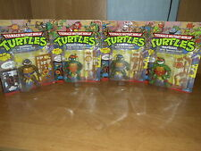 4 Storage Shell Turtles NEU NEW Unpunched MOC Raph Mike Leo Don TMNT 1990 1991