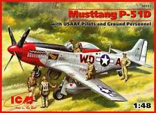 P-51 D MUSTANG WITH CREW (MAJ. P. Mc KENNON USAAF ACE MARKINGS) 1/48 ICM